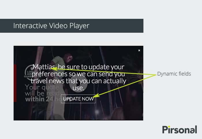 Personalized Interactive Video Player: Call to Action (CTA) Example