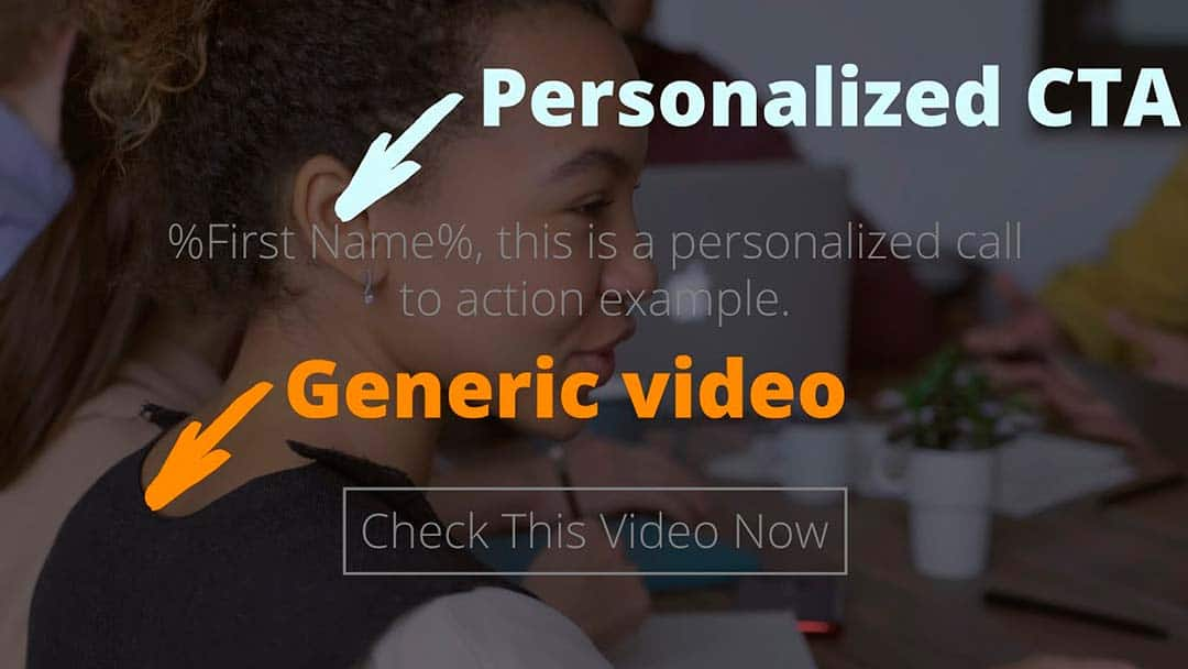 Adding personalized call-to-action buttons to any video
