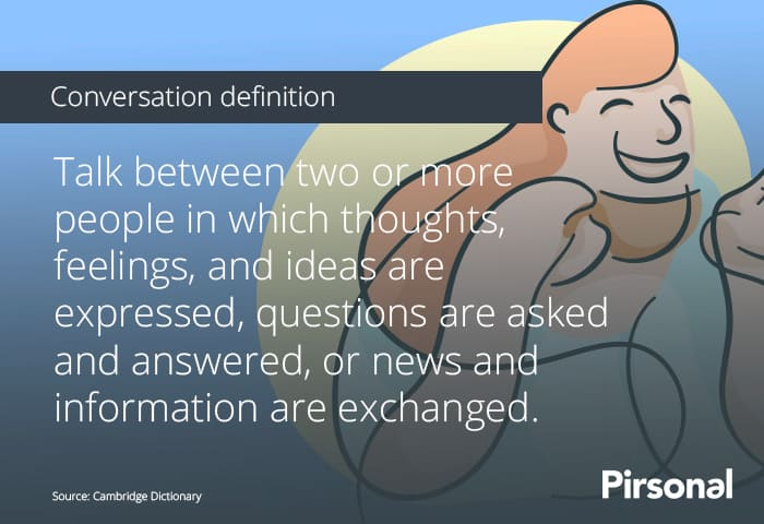 Conversation definition that helps define what personalized marketing is