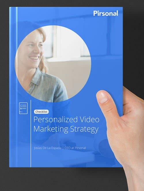Cover of the personalized video marketing checklist